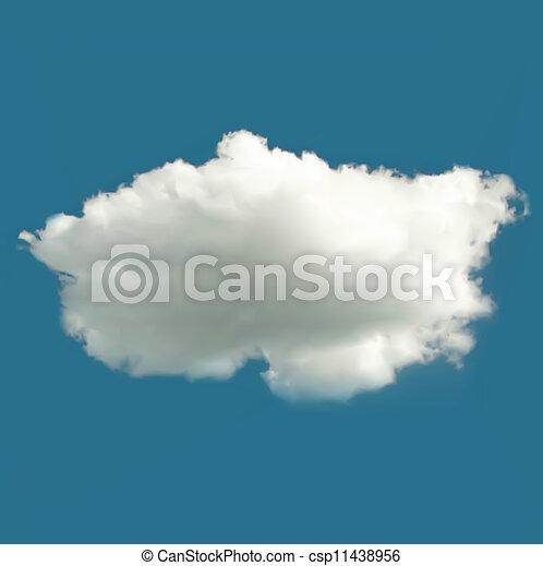 Wolkenvektor-Hintergrund - csp11438956