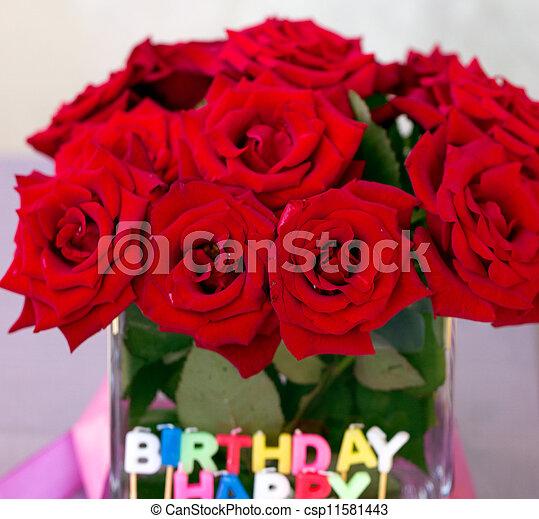 """Velas de las letras """"Feliz Cumpleaños"""" - csp11581443"""