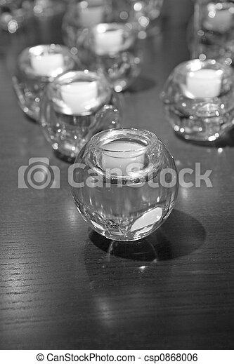 Velas en blanco y negro - csp0868006