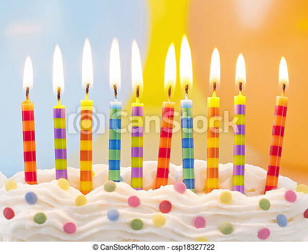 velas, cumpleaños - csp18327722
