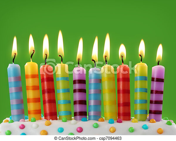 velas, dez, coloridos - csp7094463