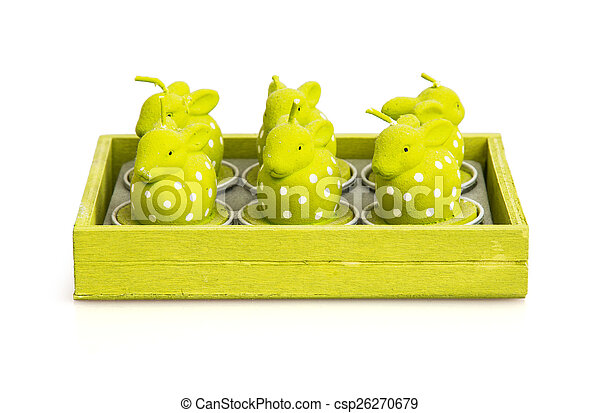 velas, forma, coelhinhos, páscoa - csp26270679