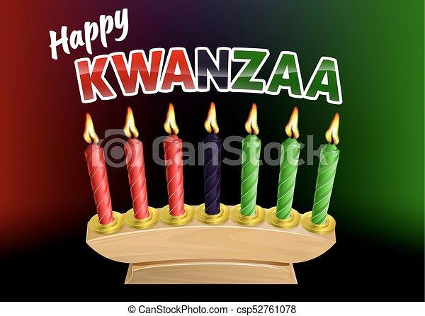 Feliz diseño de velas Kwanzaa - csp52761078