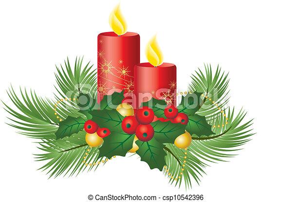 Decorativo Velas Navidad Blanca Plano De Fondo - Velas-de-navidad