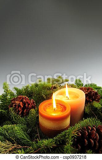 Velas de Navidad - csp0937218