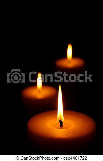 velas, tres, abrasador - csp4401722