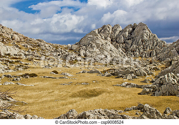 Velebit mountain landscape near Tulove Grede - csp9008524