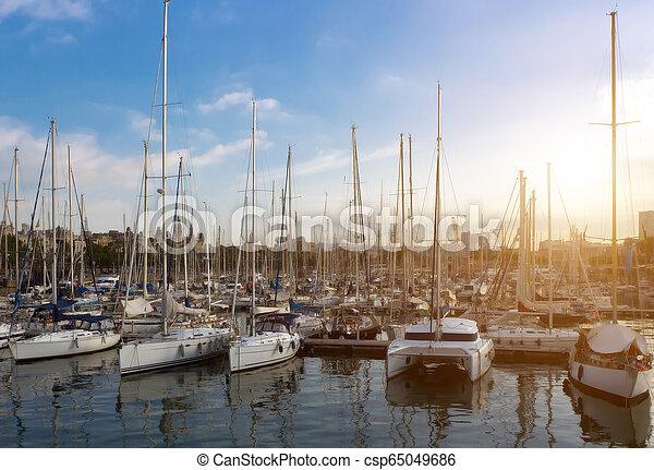 veleiros, conceito, primavera - csp65049686
