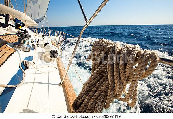 velejando, regatta. - csp20297419
