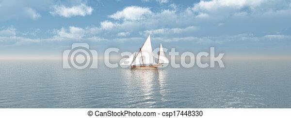 Barco de vela - csp17448330