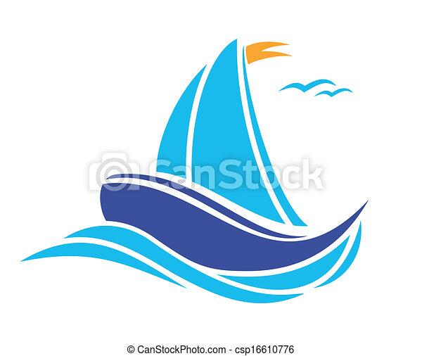 Barco navegando - csp16610776