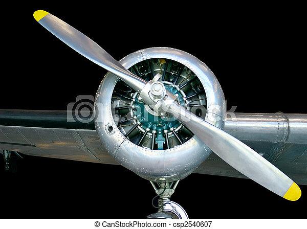 elica aereo  Velivolo elica. Questo, aereo, vecchio, propeller.