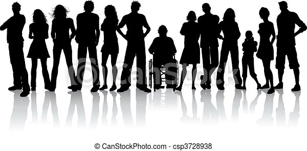 velký, dav, národ - csp3728938