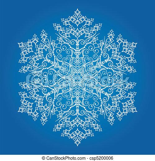 velký, detailní, svobodný, sněhová vločka - csp5200006