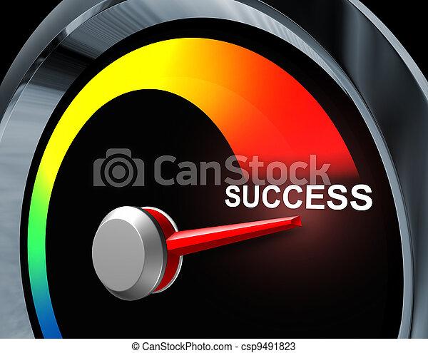velocímetro, sucesso - csp9491823