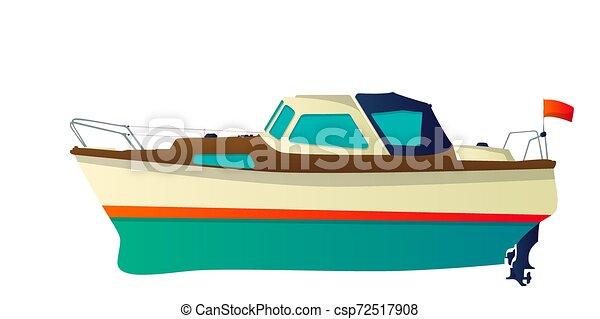 Barco Vector, yate - csp72517908