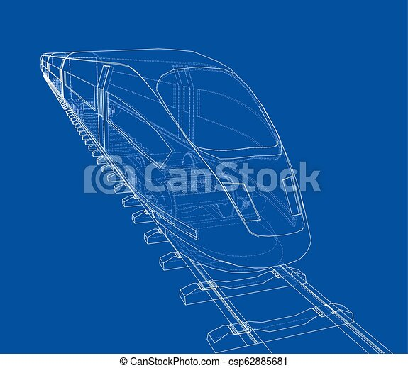 velocidade, trem, vetorial, modernos, concept. - csp62885681
