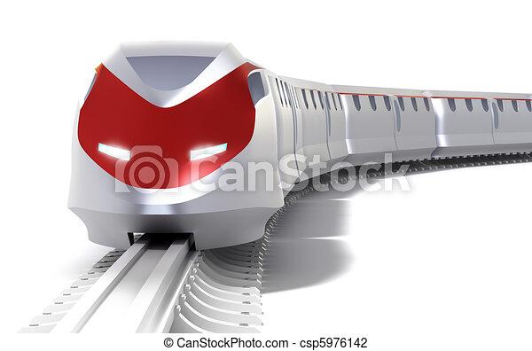 velocità, concept., isolato, alto, treno - csp5976142