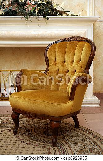 velours, fauteuil - csp0925955