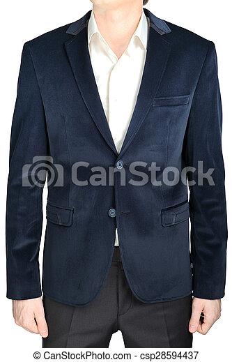 Velvet Blazer Wedding Groom Suit Jacket Navy Blue On White Velvet
