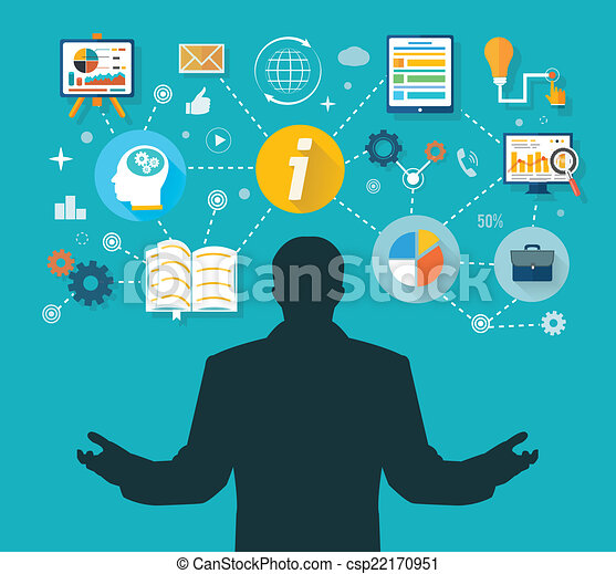 vencedor, gerência, administração, negócio, tempo - csp22170951