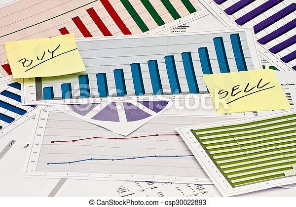 venda, compra, ou, gráficos - csp30022893