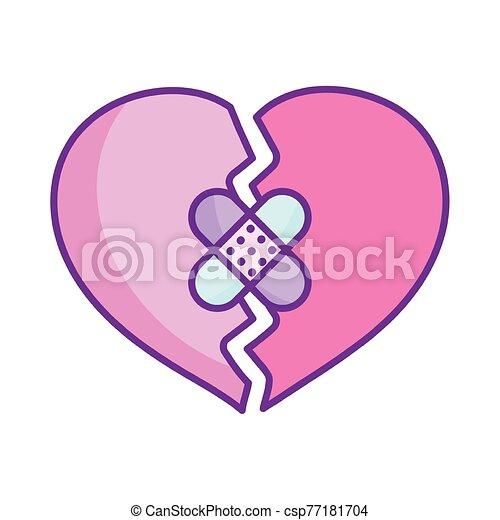 venda, feliz, corazón, día, roto, ayuda, valentines - csp77181704