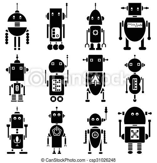 vendange, 2, retro, robots - csp31026248