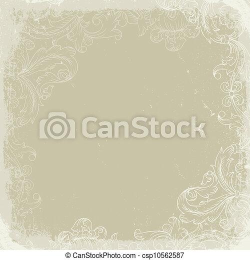 vendange, arrière-plan beige - csp10562587