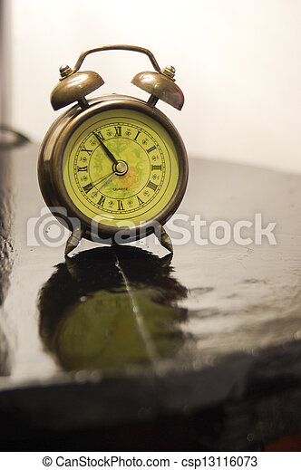 vendange, bois, horloge, table - csp13116073