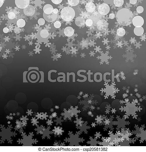vendange, bokeh, flocons neige, fond - csp20581382