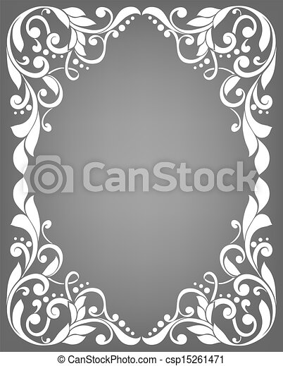 vendange, cadre, filigrane - csp15261471