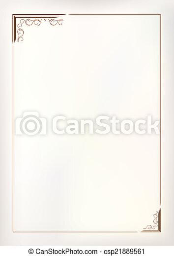 vendange, cadre, vecteur, frontière - csp21889561
