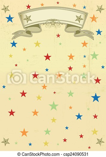 vendange, cirque, sale, affiche - csp24090531