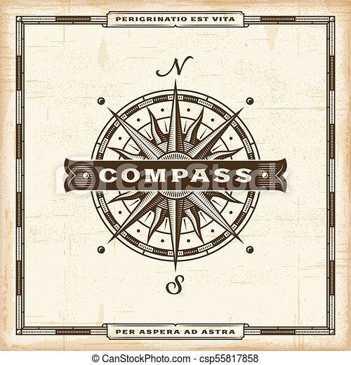 vendange, compas, étiquette - csp55817858
