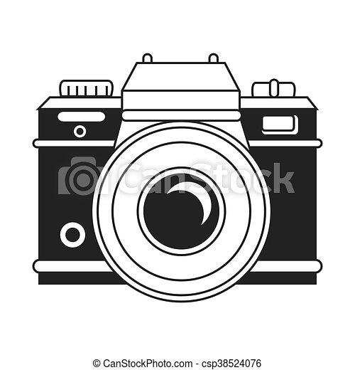 vendange couleurs appareil photo noir blanc illustration vecteurs rechercher des. Black Bedroom Furniture Sets. Home Design Ideas