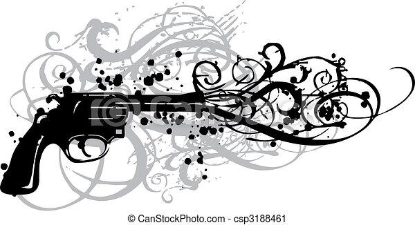 vendange, fusil, vecteur - csp3188461