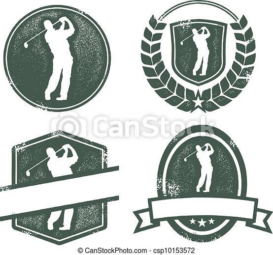 vendange, golf, logos - csp10153572