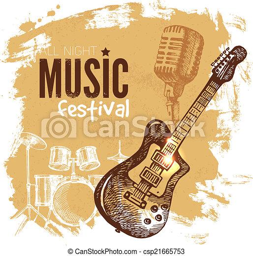 vendange, goutte, arrière-plan., éclaboussure, musique, retro, design. - csp21665753