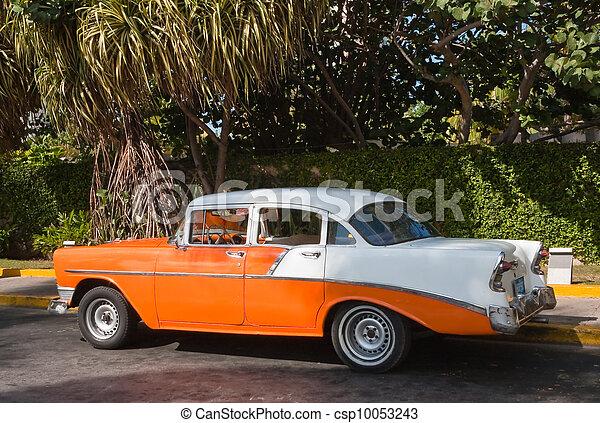 vendange, havane, vieux, voiture - csp10053243