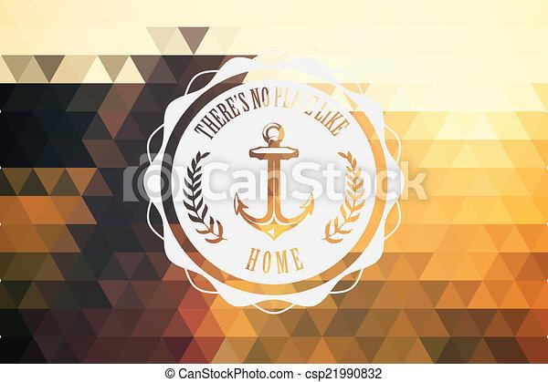 vendange, hipster, retro, étiquette - csp21990832