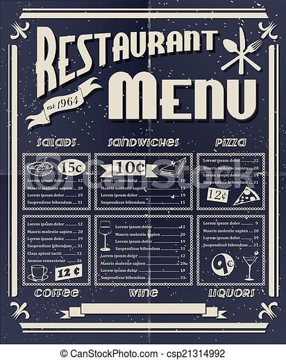 vendange, menu restaurant - csp21314992