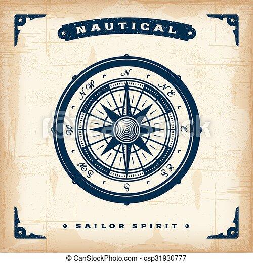 vendange, nautique, compas - csp31930777
