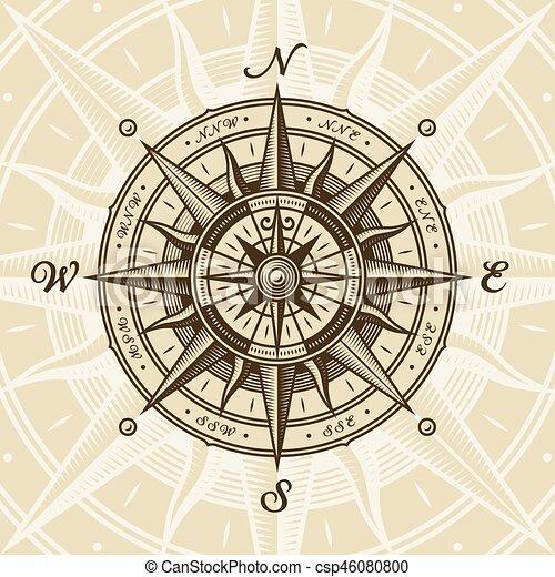 vendange, nautique, rose, compas - csp46080800