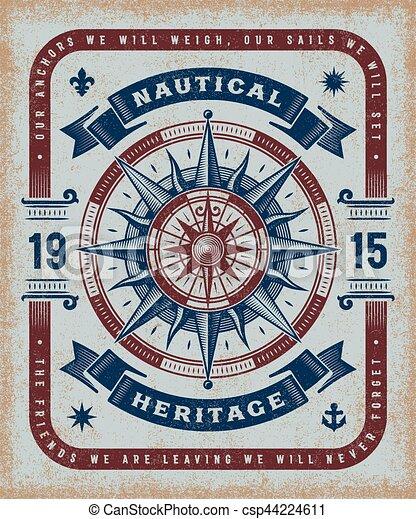vendange, nautique, typographie, héritage - csp44224611