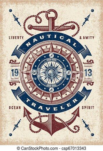 vendange, nautique, typographie, voyageur - csp67013343