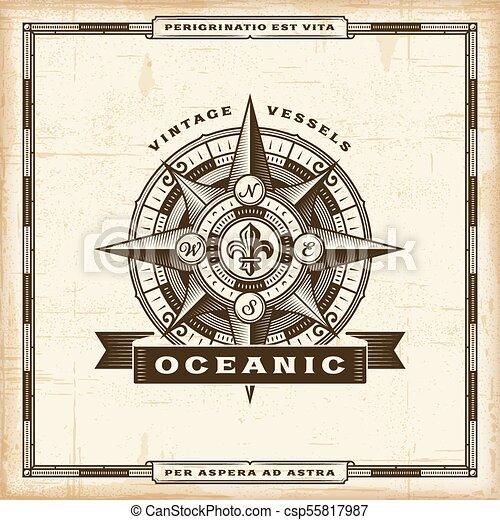 vendange, océanique, étiquette - csp55817987