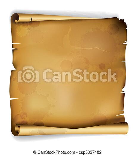 vendange, papier - csp5037482
