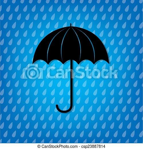 vendange, parapluie, noir - csp23887814