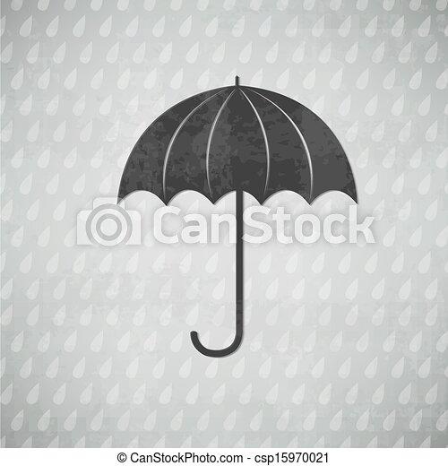 vendange, parapluie, noir - csp15970021